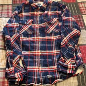 Matix insulated thin flannel jacket size large